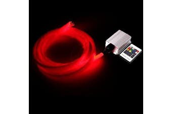LED lighting kit fibre optic fibres 6W RGB 200 0.75 mm length 4m - Cablematic