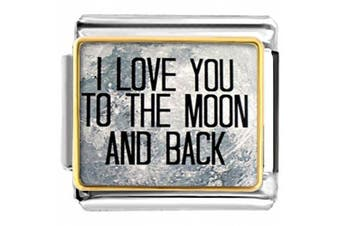 I Love You To The Moon And Back Laser Italian Nomination Charm fit Classic Bracelet