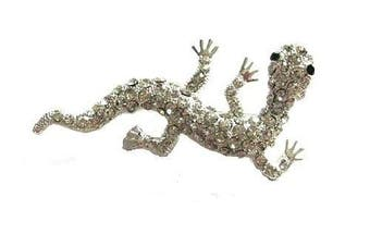 Silver Tone Crystal Diamante Lizzard Brooch Pin Fashion Gift Jewellery Jewellery