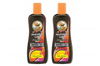 Australian Gold Dark Tanning Accelerator lotion 250ml X 2 BOTTLES