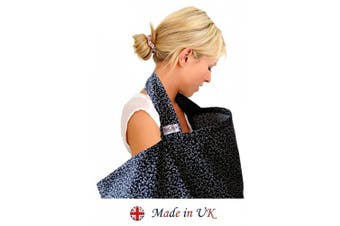 BebeChic * Top Quality 100% Cotton * Breastfeeding Covers * Boned Nursing Tops - with Storage Bag - leafy black