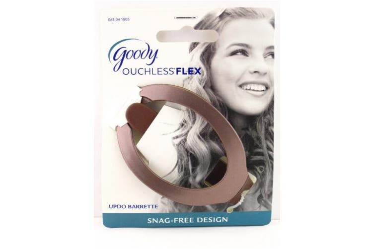 (Brown) - Goody Ouchless Comfort Flex Updo Hair Barrette (Brown)