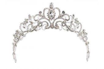 (Silver_1) - Bridal Wedding Tiara Crown Wedding Tiara Hair Accessories,Silver_1
