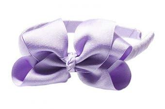 """(Lavender) - Anna Belen Girls""""Lila"""" Grosgrain Bow Headband O/S Lavender"""