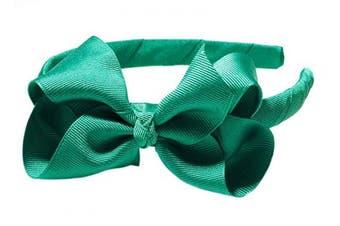 """(Green) - Anna Belen Girls """"Lila"""" Grosgrain Bow Headband O/S Green"""