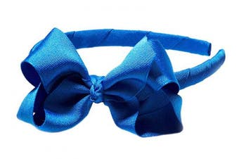 "(Royal Blue) - Anna Belen Girls""Lila"" Grosgrain Bow Headband O/S Royal Blue"