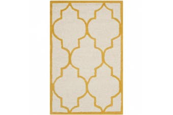 (0.6m x 0.9m, Ivory / Gold) - Safavieh CAM134U Cambridge Collection Handmade Wool Area Rug, 0.6m by 0.9m, Ivory and Gold