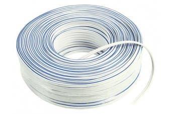 (2 Metre) - C4A® 2m White Loud Speaker Cable 2x 1.5mm² / Multi Strand (2 Metre)