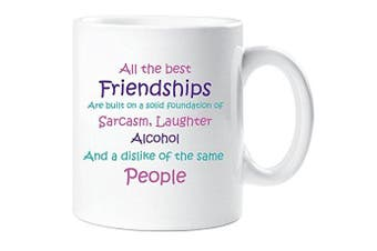 All the Best Friendships Mug Best Friends Novelty Funny Gift Cup Ceramic