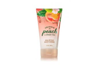 GEORGIA PEACH & SWEET TEA Signature Collection Shea & Fruit Body Scrub 240ml / 226 g