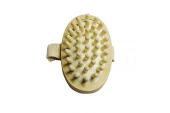 AnHua Anti Cellulite Massager Body Circulation Brush Hand-Held Wood Sauna Spa Bath NEW