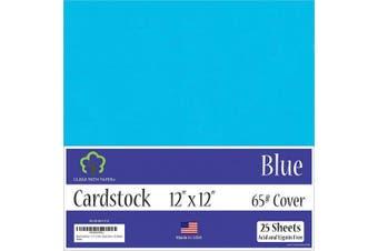 (30cm  x 30cm  - 25 Sheets) - Blue Cardstock - 30cm x 30cm - 29kg Cover - 25 Sheets