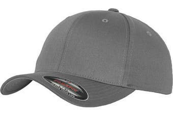 (L-XL, grey - grey) - Adult Flexfit Woolly Combed Cap