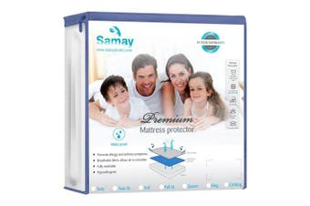 (Full, White) - Waterproof Mattress Cover - Full Size - Premium Hypoallergenic Mattress Protector