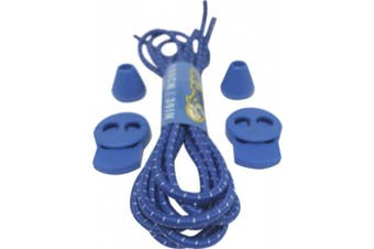 (Blue White) - Big Laces Round Elastic Lock Laces