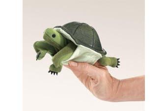 (1, multi-colored) - Folkmanis Turtle Finger Puppet 15cm