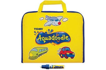 (Aquadoodle Travel - Colour) - Aquadoodle Colour Doodle Bag Travel Water Doodle Mat, Official TOMY No Mess Colouring & Drawing Game, Suitable for Toddlers and Children - Boys & Girls . , 2, 3, 4+ Year Olds