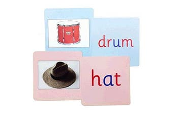 Pink and Blue Phonics Reading Cards