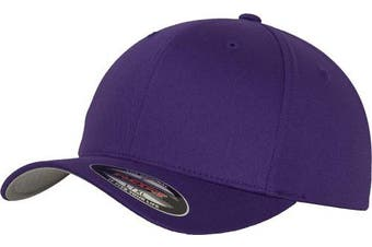 (S/M, Purple) - Adult Flexfit Woolly Combed Cap
