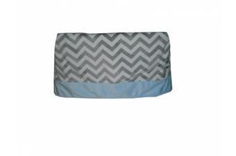 (blue) - Baby Doll Minky Chevron Crib Dust Ruffle, Blue