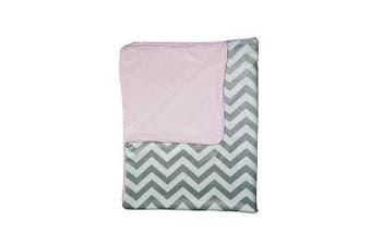 (pink) - Baby Doll Minky Chevron Crib Comforter, Pink