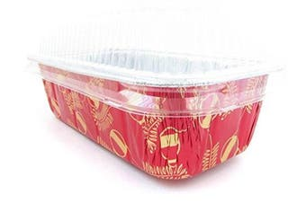 (25) - Disposable Aluminium Holiday 0.9kg. Loaf Pans with Clear Snap on Lid #9401X (25)
