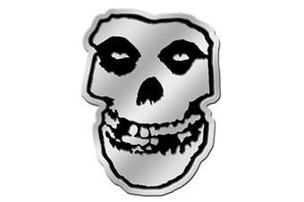 C & D Visionary Misfits Skull 8cm Silver Metal Sticker