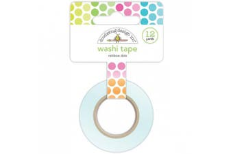 (Rainbow Dots) - Doodlebug Washi Tape 15mmX12yd