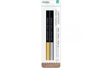 (Gold & Silver/Broad Tip) - DIY Shop 2 Permanent Chalk Markers 2/Pkg