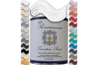 (32oz (Quart), 01 Snow) - Renaissance Chalk Finish Paint Qt - Superior Coverage, Non Toxic, Eco-Friendly - Snow