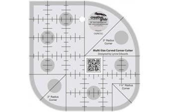 Creative Grids Quilting Ruler Multi-Size Curved Corner Cutter
