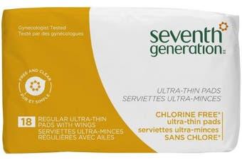 (1) - Seventh Generation Ultrathin Pads, Regular - 18 ct