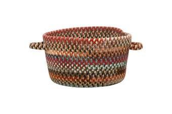 (41cm  x 23cm , Multicolor) - Capel Rugs Eaton Braided Basket, 41cm x 23cm , Multicolor