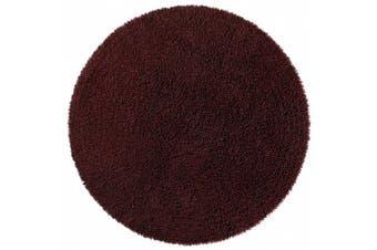 (0.9m by 0.9m, Brown) - Shagadelic Chenille Twist Round Rug, 0.9m by 0.9m, Brown