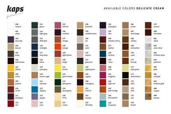(140 - ice) - Shoe Cream with Sponge Applicator, Intensive Leather Care and Nourishing, Kaps Delicate, 70 colours