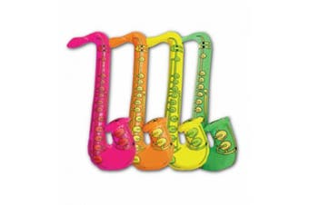 (Inflatable Saxophone Approx. 75 cm) - New Assorted Colour Inflatable Children Blow Up Toys Hen Stag Party Fancy Dress (Inflatable Saxophone Approx. 75 cm)