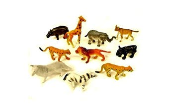 30 Assorted Mini Plastic Jungle Animal Toys