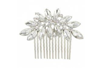 Ever Faith Austrian Crystal Bridal Marquise-Shape Hair Comb Clear N00406-1
