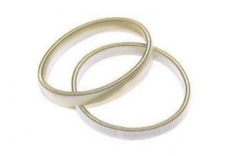 Elasticated Arm Bands - Silver