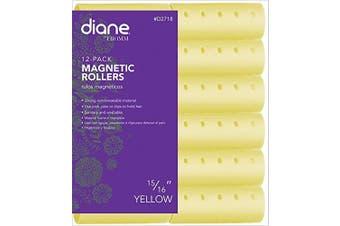 (2.4cm ) - Diane Magnetic Hair Roller, Yellow, 2.4cm