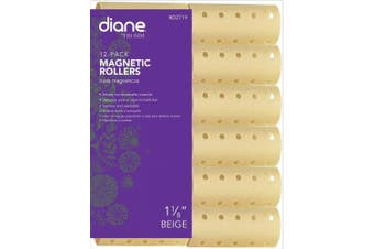 (2.9cm ) - Diane Magnetic Hair Roller, Beige, 2.9cm