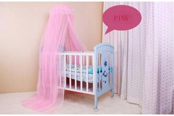 (Net Without Stand, Pink) - Pesp® Baby Toddler Kid's Nursery Bed Dome Cots Mosquito Netting Hanging Dome Floor Fixed Bed Nets Crib Tent Canopy Netting