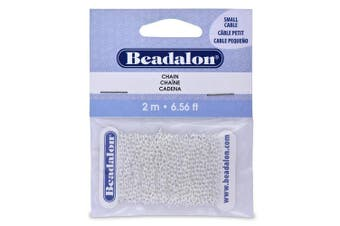 Beadalon Chain 2.3mm Small Silver Plated, 2-Metres