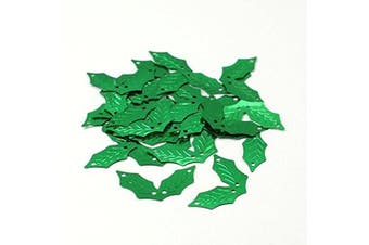 Angel Malone 10g GREEN Holly Leaf Sequins Christmas Confetti, Card Making, Scrapbooking, Sewing, Wedding Favours & Lots more...