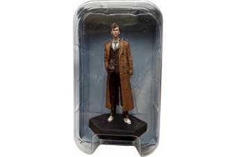 (#8 10th Doctor David Tennant) - Doctor Who Figurine Collection - Figure #8 - 10th Doctor Who David Tennant - Hand Painted 1:21 Scale Model - Collector Boxed by Eaglemoss / Doctor Who