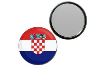 (55mm) - Croatia Flag - 55mm Round Compact Mirror