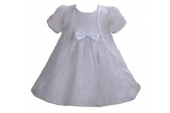 (12 - 18 Months, White) - Cinda Baby Girls Wedding Party Christening Dress with Cape