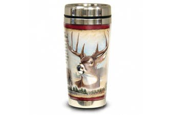 (Whitetail Deer) - American Expedition 16oz Stainless Steel Travel Mug Whitetail Deer (Each)