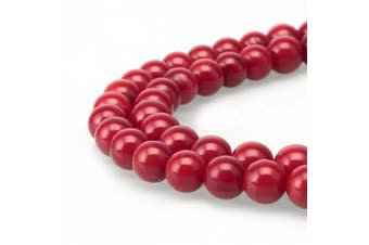 (8mm, Red Coral) - BRCbeads Gorgeous Natural Red Coral Gemstone Round Loose Beads 8mm Approxi 15.5 inch 46pcs 1 Strand per Bag for Jewellery Making