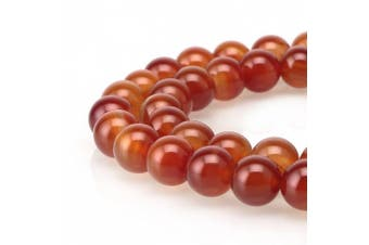 (8mm, Red Agate) - BRCbeads Gorgeous Natural Red Agate Gemstone Round Loose Beads 8mm Approxi 15.5 inch 46pcs 1 Strand per Bag for Jewellery Making